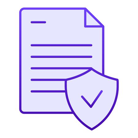 Valid document flat icon. Note with check blue icons in trendy flat style. Approved document gradient style design, designed for web and app. Eps 10.