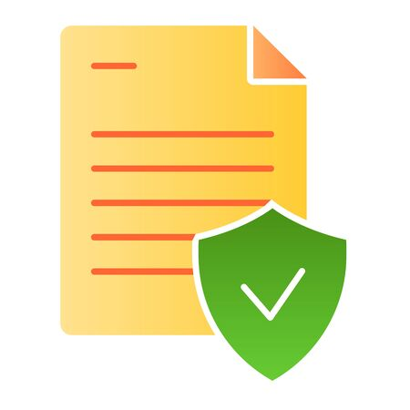 Valid document flat icon. Note with check color icons in trendy flat style. Approved document gradient style design, designed for web and app. Eps 10. Reklamní fotografie - 125080469