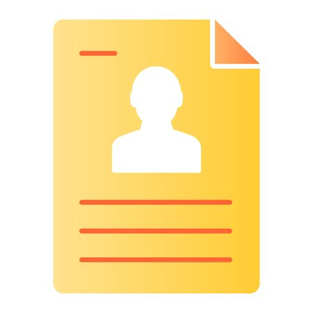Personal document flat icon. Identification paper color icons in trendy flat style. Sheet gradient style design, designed for web and app. Eps 10. Reklamní fotografie - 125080477