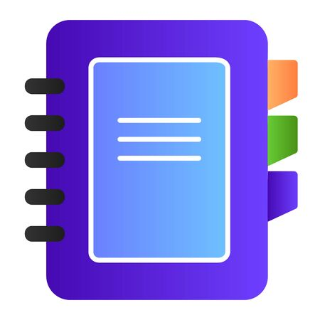 Address book flat icon. Phone book color icons in trendy flat style. Notepad gradient style design, designed for web and app. Eps 10.