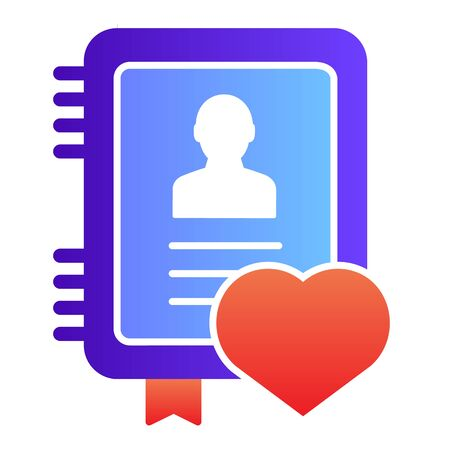 Personal notepad flat icon. Notebook color icons in trendy flat style. Note certificate gradient style design, designed for web and app. Eps 10. Ilustrace