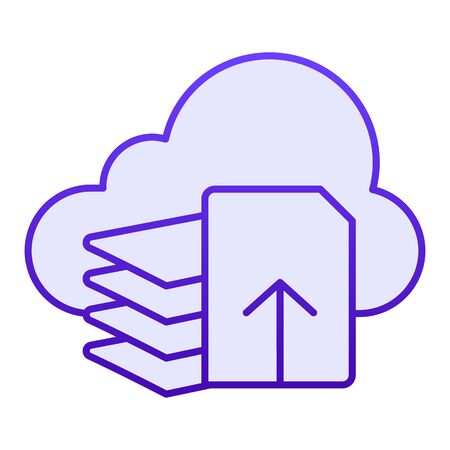Download files flat icon. Document download blue icons in trendy flat style. List and cloud gradient style design, designed for web and app. Eps 10. Reklamní fotografie - 125080512