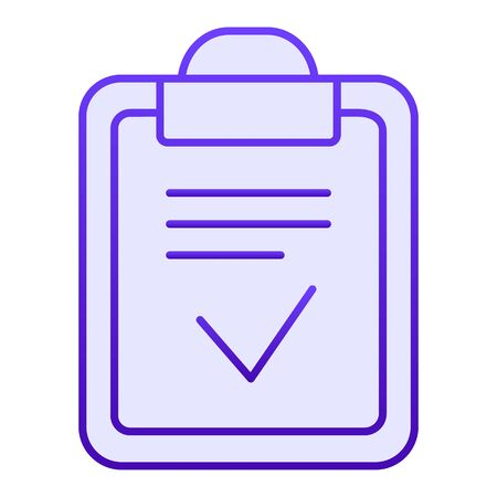 Clipboard done flat icon. Done list blue icons in trendy flat style. Paper with check gradient style design, designed for web and app. Eps 10. Reklamní fotografie - 125080520