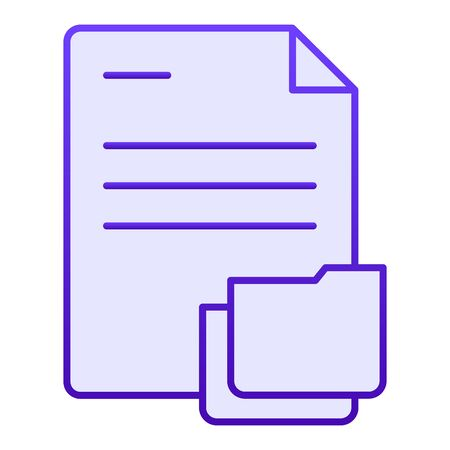 Document with folder flat icon. Papers in folder blue icons in trendy flat style. Lists gradient style design, designed for web and app. Eps 10. Reklamní fotografie - 125080525