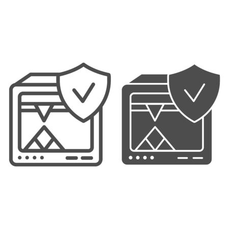 3D printer line and glyph icon. 3D printer verified vector illustration isolated on white. 3d printing completed outline style design, designed for web and app.  .