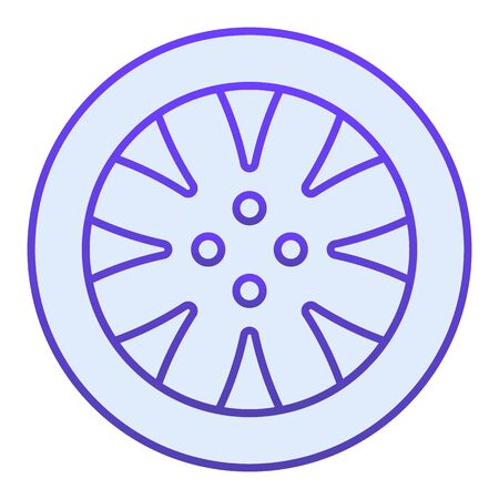 Tire flat icon. Automobile wheel blue icons in trendy flat style. Car part gradient style design, designed for web  app.  .