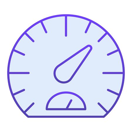 Speedometer flat icon. Tachometer blue icons in trendy flat style. Car dashboard gradient style design, designed for web  app.  .