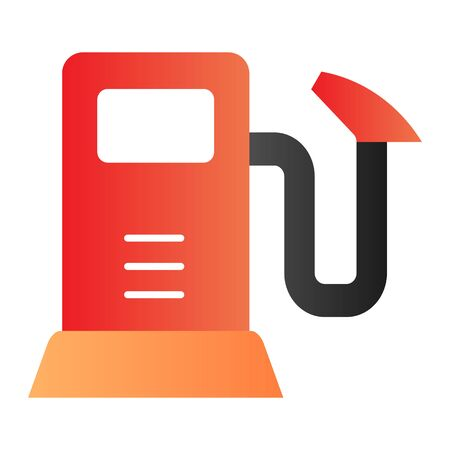 Gas pump flat icon. Gasoline refil color icons in trendy flat style. Fuel station gradient style design, designed for web and app. Eps 10.