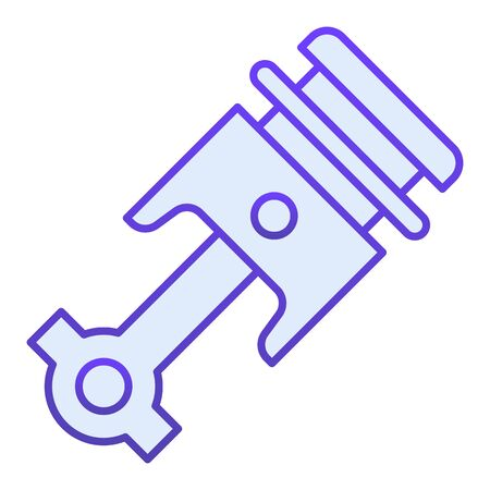 Engine piston flat icon. Auto piston blue icons in trendy flat style. Car part gradient style design, designed for web  app.  .