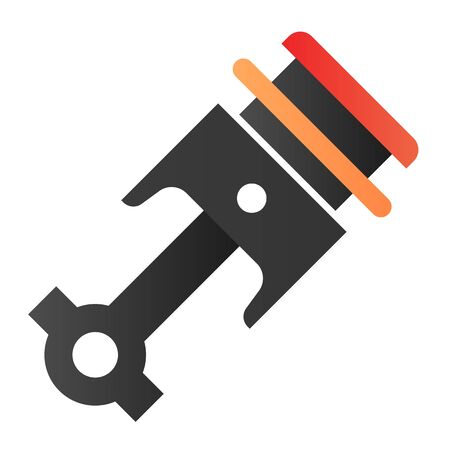 Engine piston flat icon. Auto piston color icons in trendy flat style. Car part gradient style design, designed for web  app.  .