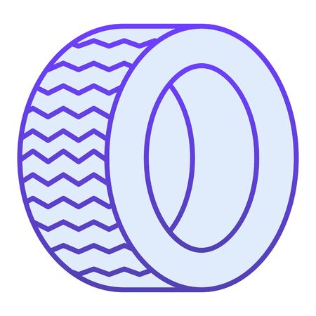 Road tire flat icon. Auto wheel blue icons in trendy flat style. Car part gradient style design, designed for web  app.  .