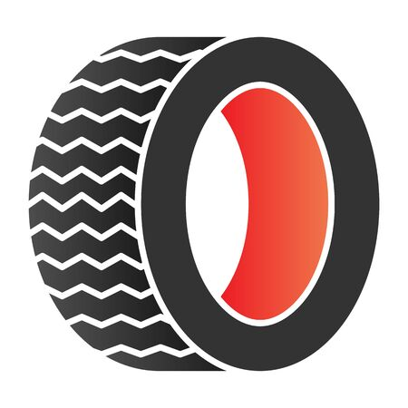 Road tire flat icon. Auto wheel color icons in trendy flat style. Car part gradient style design, designed for web  app.  .