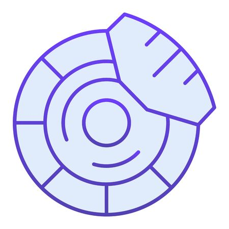 Brake discs flat icon. Brake shoe blue icons in trendy flat style. Car part gradient style design, designed for web  app.  .