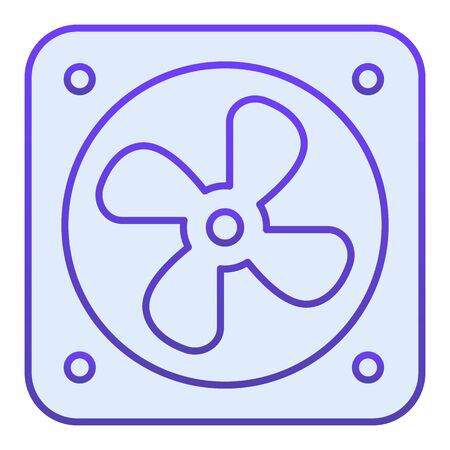 Radiator fan flat icon. Car fan cooling blue icons in trendy flat style. Car part gradient style design, designed for web  app.  .