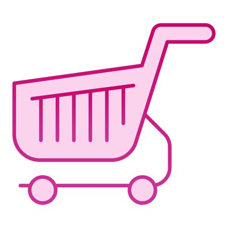Shopping cart flat icon. Shop basket pink icons in trendy flat style. Market trolley gradient style design, designed for web and app. Eps 10.