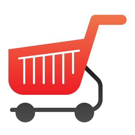 Shopping cart flat icon. Shop basket color icons in trendy flat style. Market trolley gradient style design, designed for web and app. Eps 10.