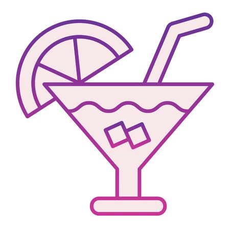 Cocktail flat icon. Party drink violet icons in trendy flat style. Alcohol beverage gradient style design, designed for web and app. Eps 10.