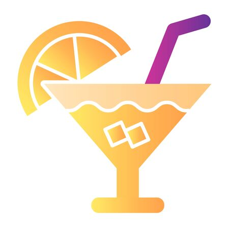 Cocktail flat icon. Party drink color icons in trendy flat style. Alcohol beverage gradient style design, designed for web and app. Eps 10.