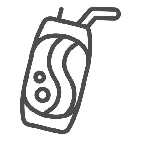 Soda can line icon. Lemonade vector illustration isolated on white. Beverage can outline style design, designed for web and app. Eps 10. Ilustração