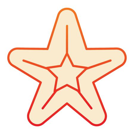 Starfish flat icon. Sea star orange icons in trendy flat style. Aquatic gradient style design, designed for web and app. Eps 10.