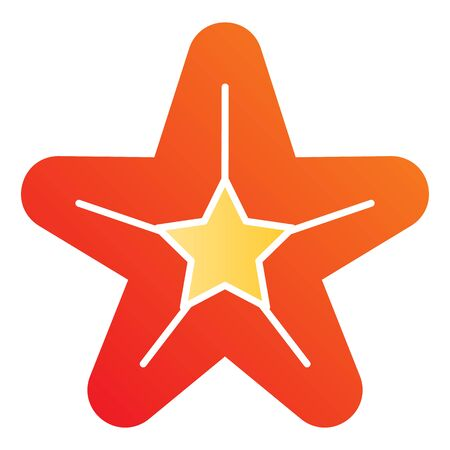 Starfish flat icon. Sea star color icons in trendy flat style. Aquatic gradient style design, designed for web and app. Eps 10.
