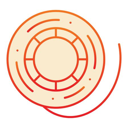 Fishing reel flat icon. Scaffold thread orange icons in trendy flat style. Skein of thread gradient style design, designed for web and app. Eps 10. Иллюстрация