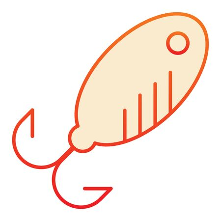 Lure flat icon. Bait orange icons in trendy flat style. Fishing tackle gradient style design, designed for web and app.