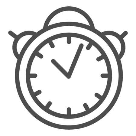 Alarm clock line icon. Table watch vector illustration isolated on white. Morning timer outline style design, designed for web and app. Eps 10.