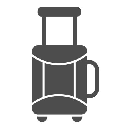 Suitcase solid icon. Baggage vector illustration isolated on white. Luggage glyph style design, designed for web and app. Eps 10. Ilustração