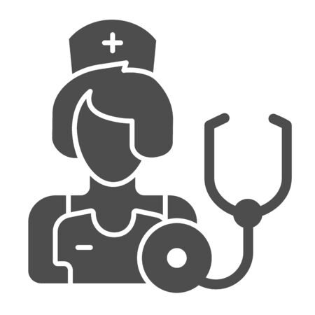 Therapist solid icon. Medic vector illustration isolated on white. Physician glyph style design, designed for web and app. Eps 10.
