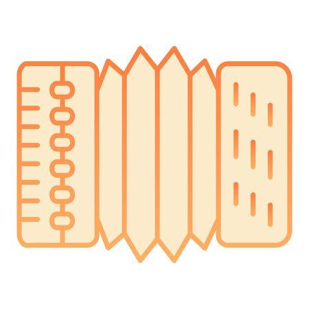 Icône plate accordéon. Icônes d'harmonica orange dans un style plat branché. Conception de style dégradé d'instruments de musique, conçue pour le Web et l'application. Eps 10.