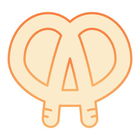 Pretzel flat icon. Bakery orange icons in trendy flat style. Pastry gradient style design, designed for web and app. Eps 10.
