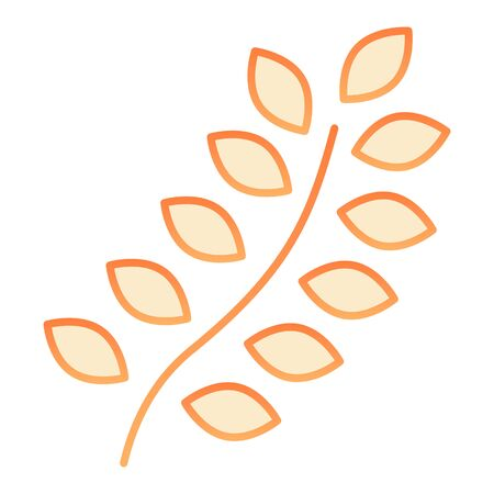 Wheat flat icon. Agriculture orange icons in trendy flat style. Grain gradient style design, designed for web and app. Eps 10.