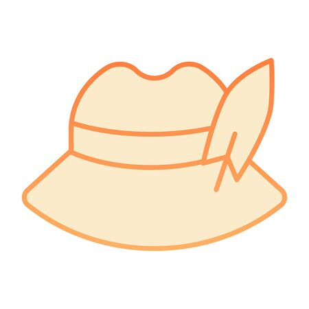 Traditional german cap flat icon. German feather hat orange icons in trendy flat style. Oktoberfest hat gradient style design, designed for web and app. Eps 10.