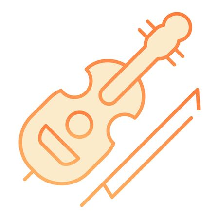 Violin flat icon. String instrument orange icons in trendy flat style. Musical instrument gradient style design, designed for web and app. Eps 10.