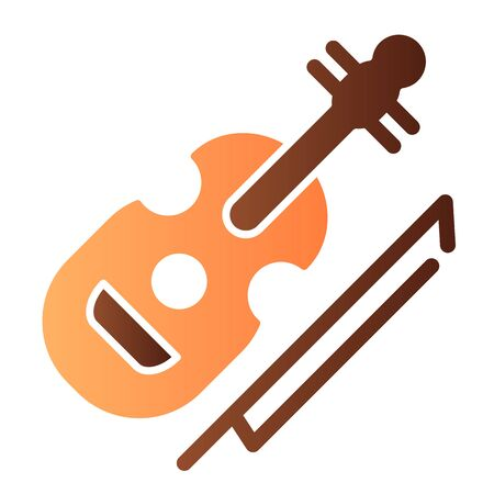 Violin flat icon. String instrument color icons in trendy flat style. Musical instrument gradient style design, designed for web and app. Eps 10.