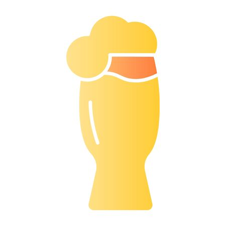 Glass of beer flat icon. Craft beer color icons in trendy flat style. Ale mug gradient style design, designed for web and app. Eps 10.
