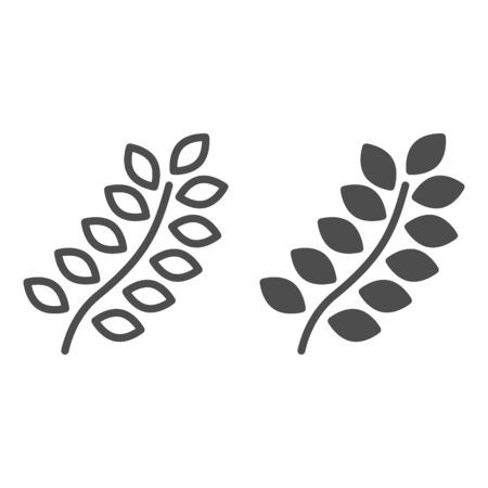 Wheat line and glyph icon. Agriculture vector illustration isolated on white. Grain outline style design, designed for web and app. Eps 10.