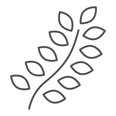 Wheat thin line icon. Agriculture vector illustration isolated on white. Grain outline style design, designed for web and app. Eps 10.