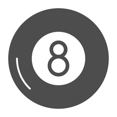 Billiards solid icon. Billiard ball vector illustration isolated on white. Eight ball glyph style design, designed for web and app. Eps 10.