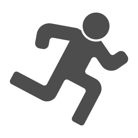 Runner solid icon. Run vector illustration isolated on white. Athlete glyph style design, designed for web and app. Eps 10.