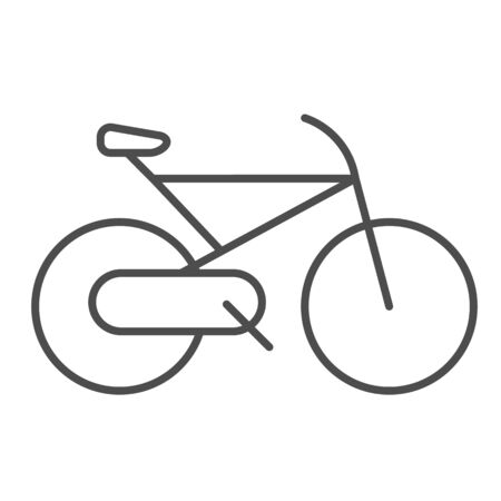 Bicycle thin line icon. Cycle vector illustration isolated on white. Sport activity outline style design, designed for web and app. Eps 10. Ilustracja