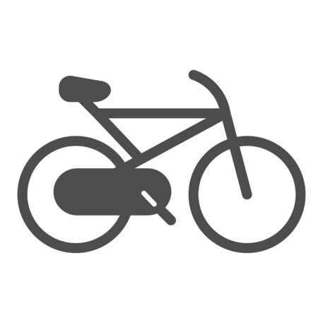 Bicycle solid icon. Cycle vector illustration isolated on white. Sport activity glyph style design, designed for web and app. Eps 10.