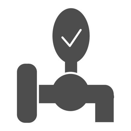 Beer tap solid icon. Keg crane vector illustration isolated on white. Pub beer faucet glyph style design, designed for web and app. Eps 10.