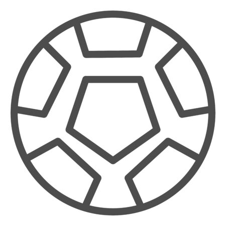 Soccer ball line icon. Football ball vector illustration isolated on white. Game ball outline style design, designed for web and app. Eps 10.