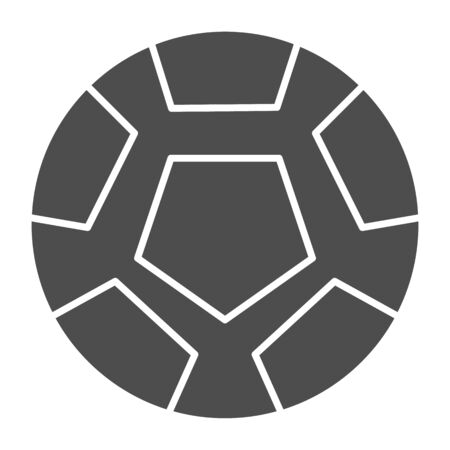 Soccer ball solid icon. Football ball vector illustration isolated on white. Game ball glyph style design, designed for web and app. Eps 10.