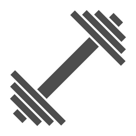 Dumbbell solid icon. Weights vector illustration isolated on white. Bodybuilding equipment glyph style design, designed for web and app. Eps 10.