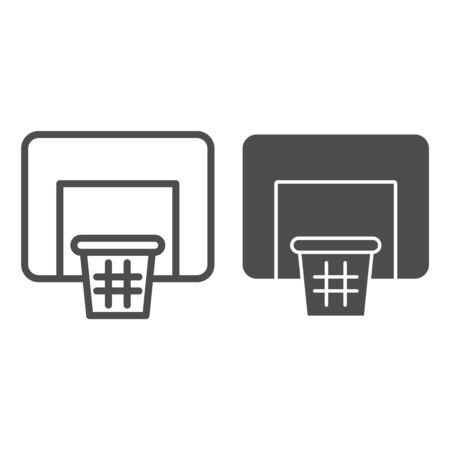 Basketball net line and glyph icon. Basket vector illustration isolated on white. Basketball equipment outline style design, designed for web and app. Eps 10. 免版税图像 - 132070503