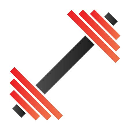Dumbbell flat icon. Weights color icons in trendy flat style. Bodybuilding equipment gradient style design, designed for web and app. Eps 10. Çizim