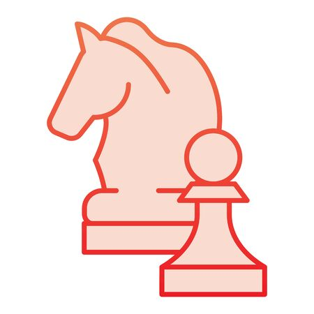 Chess knight flat icon. Chess horse red icons in trendy flat style. Equine gradient style design, designed for web and app. Eps 10.